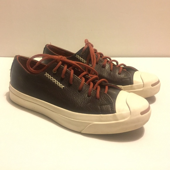 7078ce3bc921 ... shoes converse outlet 4dfa5 93850  coupon code converse jack purcell  brown leather sneaker 6eb8c b64cd